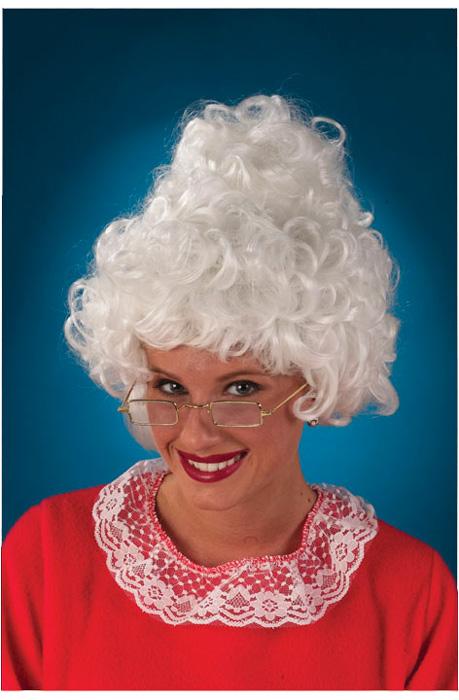 Mrs Santa Costume Wig