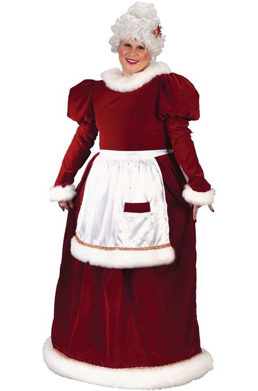 Velvet Mrs Claus Plus Size Costume - PureCostumes.com