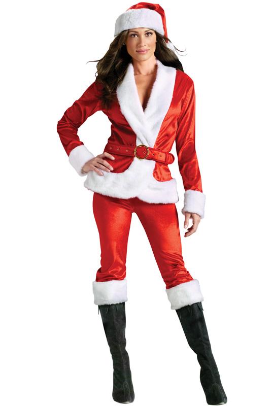 Ms santa pants set adult costume purecostumes com