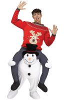 Carry Me Snowman Adult Costume