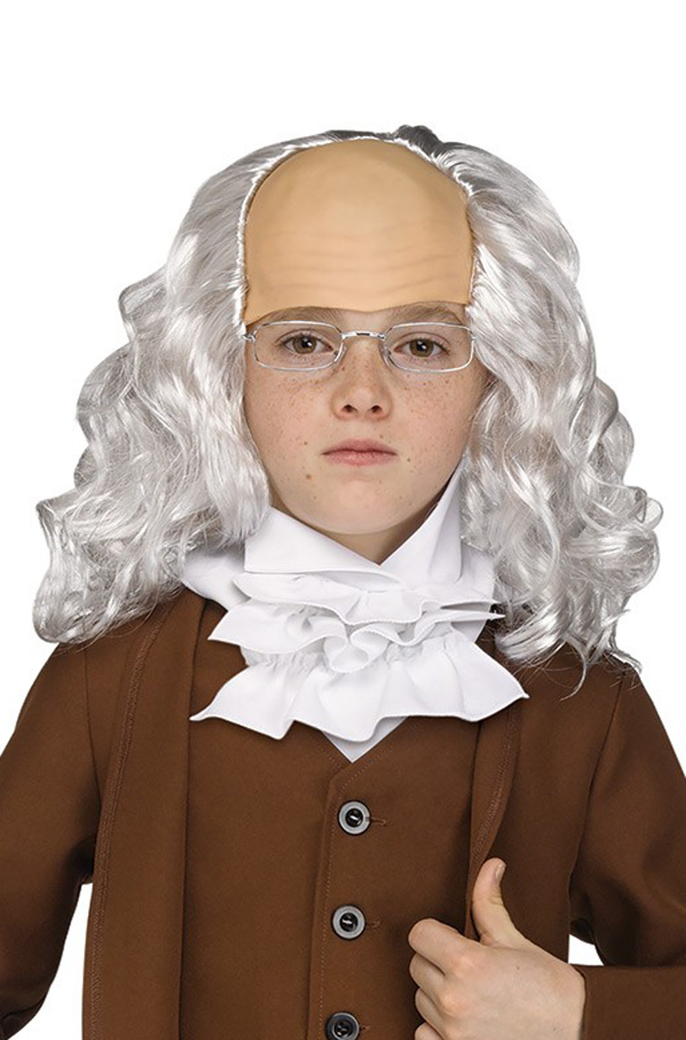 Child Colonial Wig Costume Accessory Kids 4th of July
