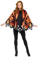 Monarch Butterfly Wing Poncho Adult Costume