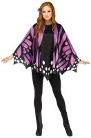 Purple Butterfly Wing Poncho Adult Costume