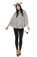 Cow Hooded Poncho Adult Costume