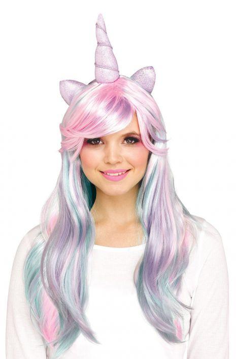 Unicorn Horn Adult Wig Pastel Purecostumes Com