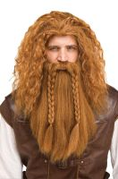 Viking Warrior Wig & Beard (Auburn)