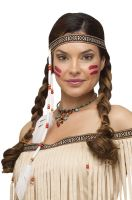 Bead and Feather Native Headband