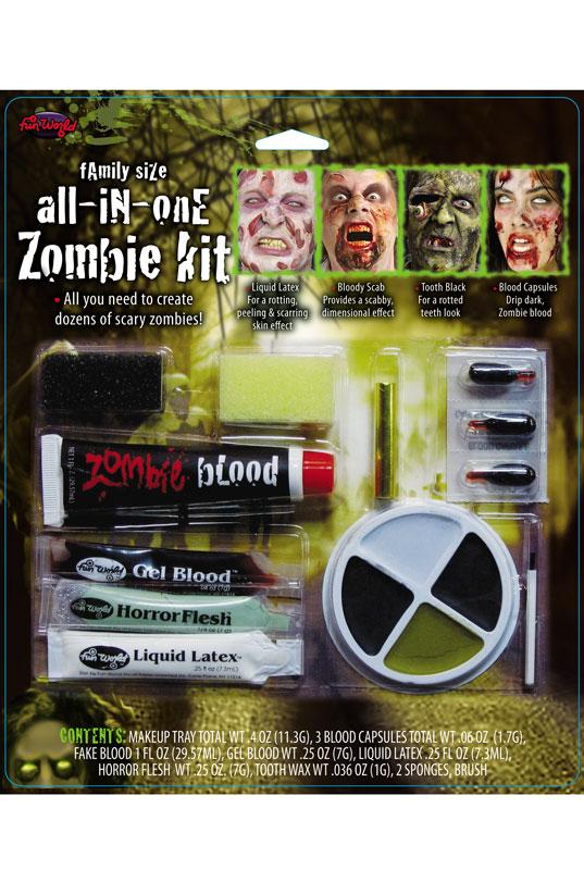 Family Size Horror Zombie Make-Up Kit - PureCostumes.com