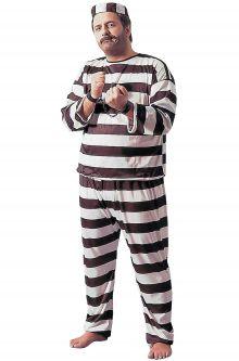 Convict Deluxe Plus Size Costume  sc 1 st  Pure Costumes & Prisoner u0026 Convict Costumes - PureCostumes.com
