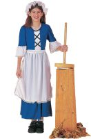 Blue Colonial Girl Child Costume