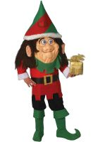 Santa's Elf Parade Pleaser Mascot Adult Costume