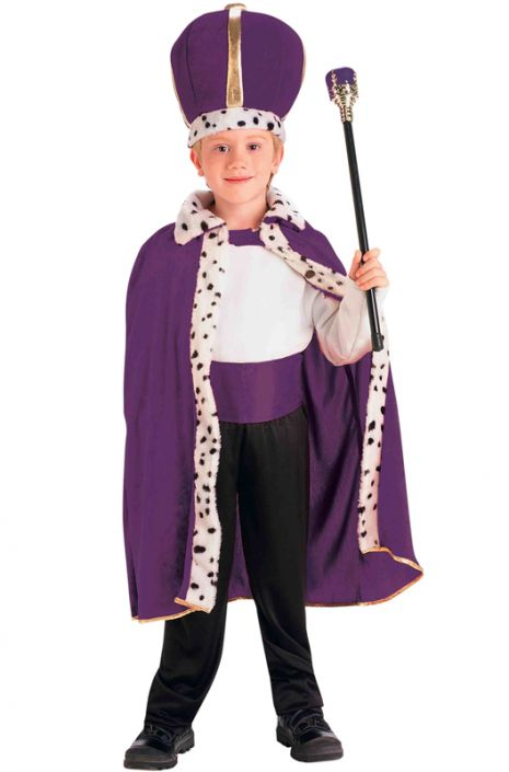 2b55d8c222 King Robe and Crown Set (Purple) - PureCostumes.com