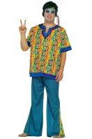 Hippie Dude Plus Size Costume