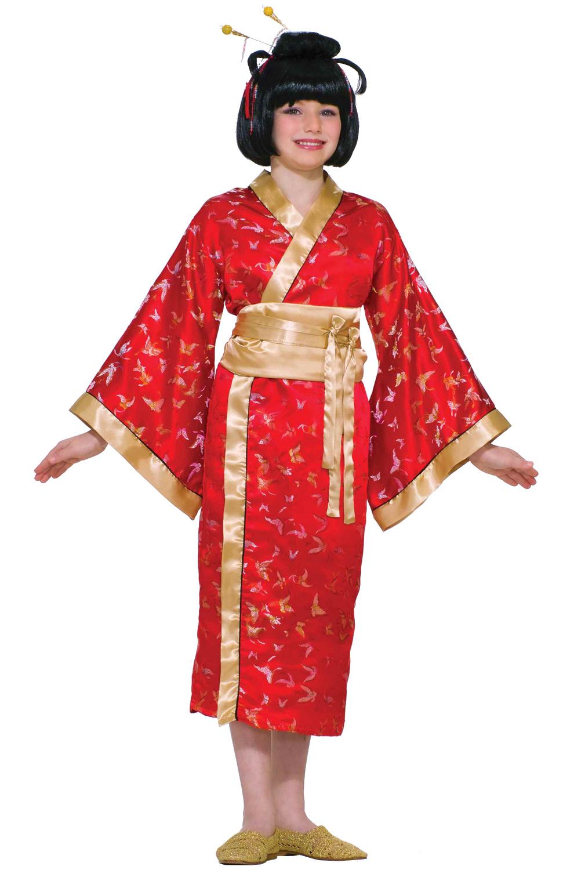 Новогодний костюм гейши для девочки