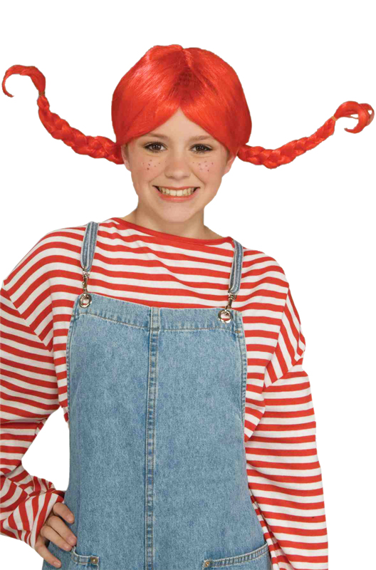 Hillbilly Pigtails Wig Red Purecostumes Com