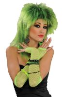 Long Fishnet Fingerless Gloves (Green)