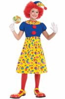 Clown Girl Child Costume (Medium)