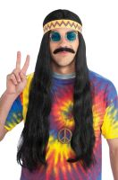 Hippie Dude Wig with Headband