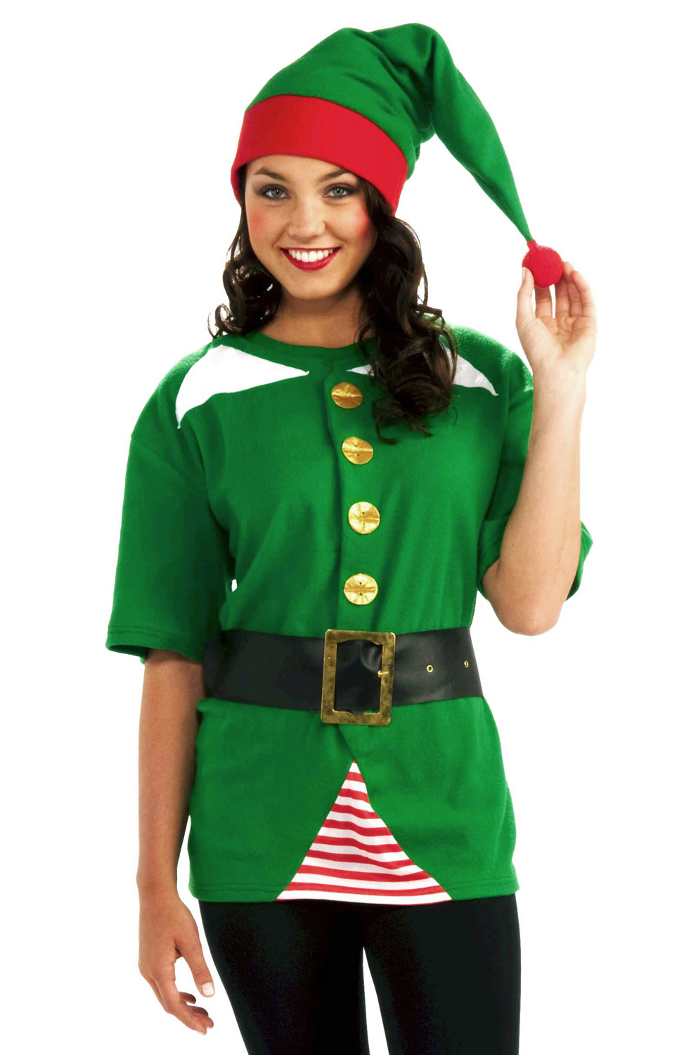 Details about brand new christmas santa jolly elf costume kit