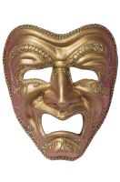 Tragedy Drama Mask (Gold)