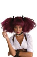 Steampunk Adult Wig (Burgundy)