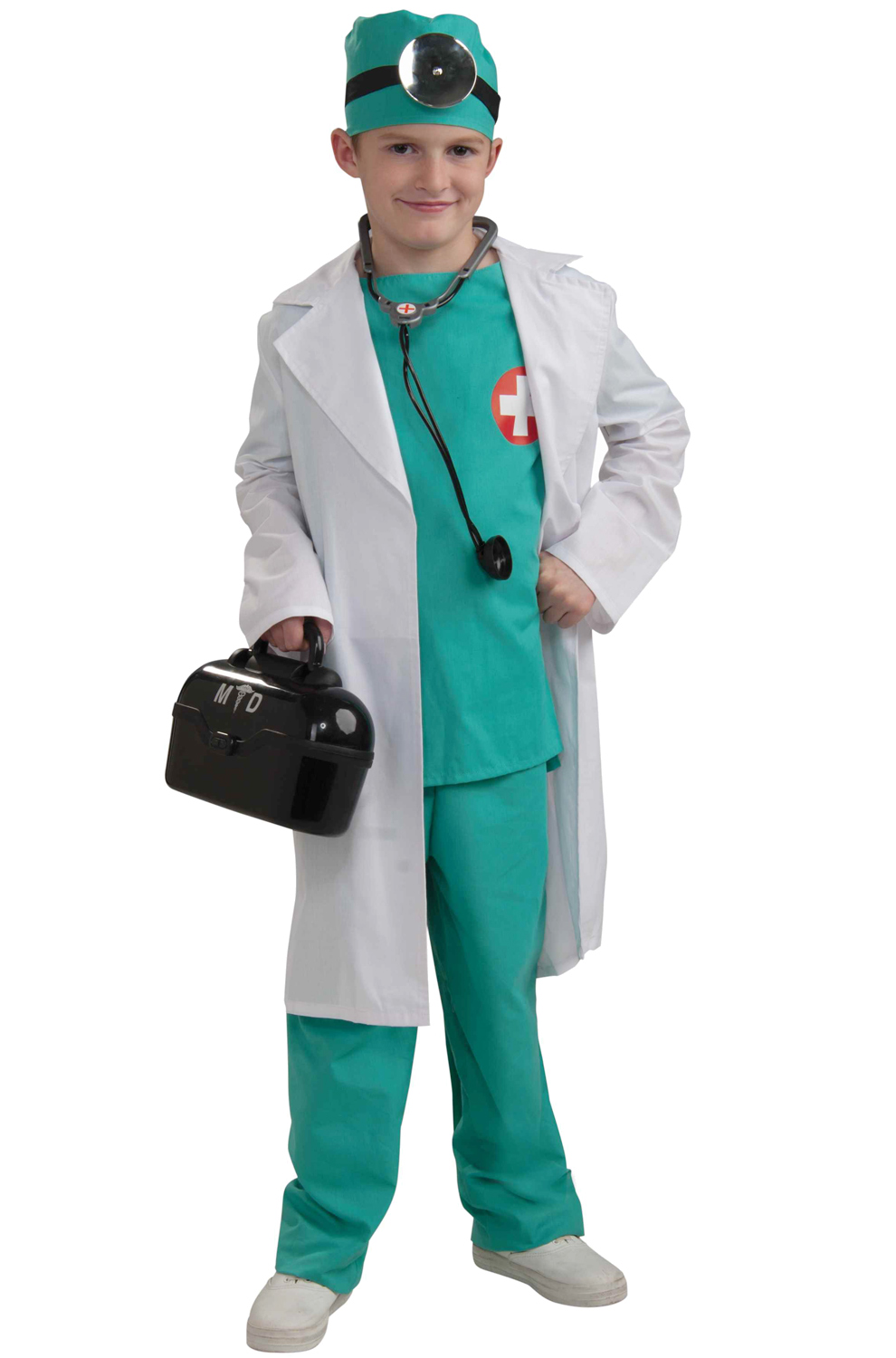 Chief Surgeon Child Costume (S)  sc 1 st  eBay & Brand New Head Chief Surgeon Medical Doctor Child Costume (S ...