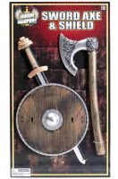 Viking Shield Sword and Axe Child Set