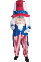 Uncle Sam Parade Pleaser Mascot Adult Costume
