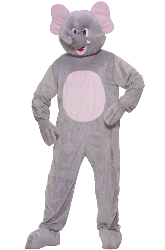 Plush Ernie The Elephant Mascot Adult Costume