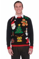 Christmas Sweater Icons Adult Costume (XL)