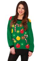 Light Up Christmas Sweater Adult Costume (L)