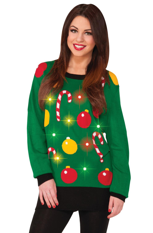 Light up christmas sweater adult costume xl