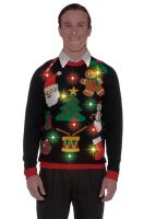Everything Christmas Light Up Sweater Adult Costume (L)