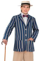 Roaring 20s Boater Jacket Adult Costume (XL)