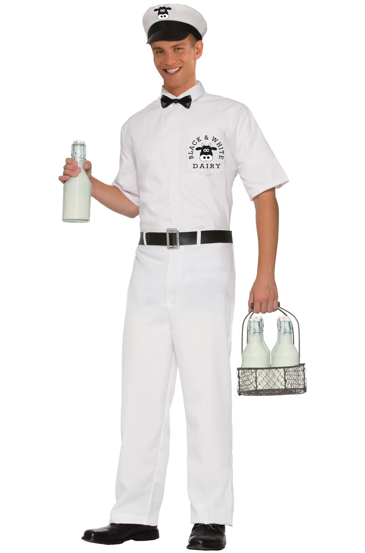 50 S Milkman Adult Costume Std Purecostumes Com