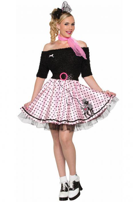 Polka Dot Poodle Skirt Adult Costume