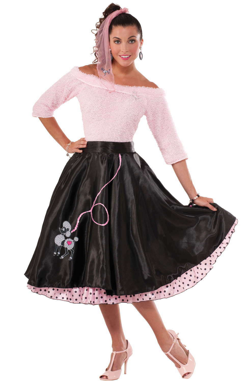The 50 Best Fashion Tips Of All Time: Flirty 50s Poodle Skirt Adult Costume