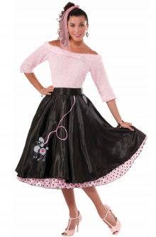 Flirty 50s Poodle Skirt Adult Costume