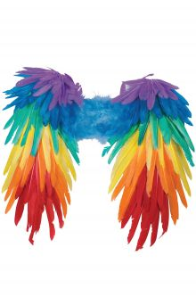 Rainbow Feather Wings Gay Pride Fashion