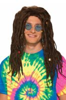 Hippie Dreads Adult Wig (Brown)