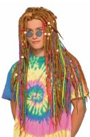 Hippie Dreads Adult Wig (Rainbow)