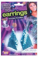 Disco Drop Earrings (Blue)