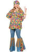 Hippie Chick Plus Size Costume
