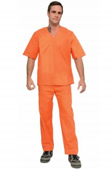 Prisoner convict costumes purecostumes orange prisoner adult costume solutioingenieria Image collections
