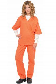 Prisoner convict costumes purecostumes orange prisoner adult costume solutioingenieria Choice Image