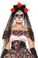 Day of the Dead Veiled Headband