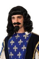 Musketeer Adult Wig, Beard & Moustache Set