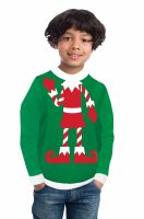 Red Elf Sweater Child Costume (Small)