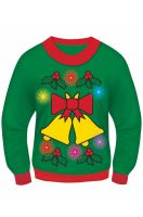 Holly Light Up Sweater Adult Costume (X-Large)