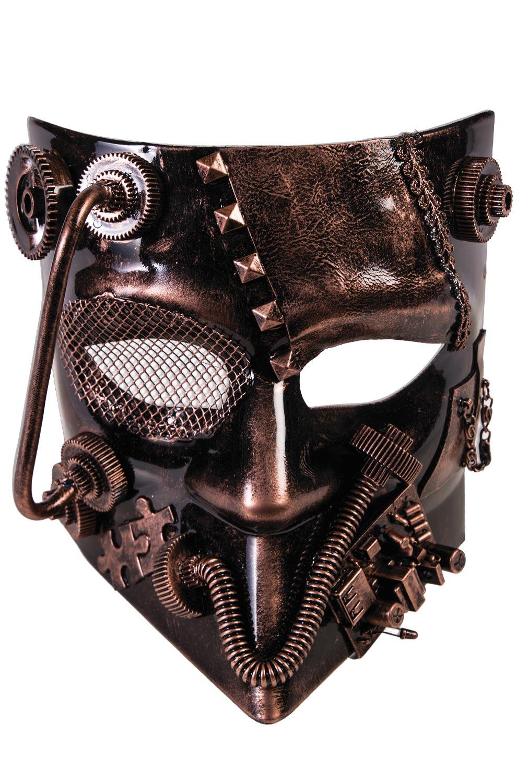 Industrial Warrior Mask Bronze Purecostumes Com